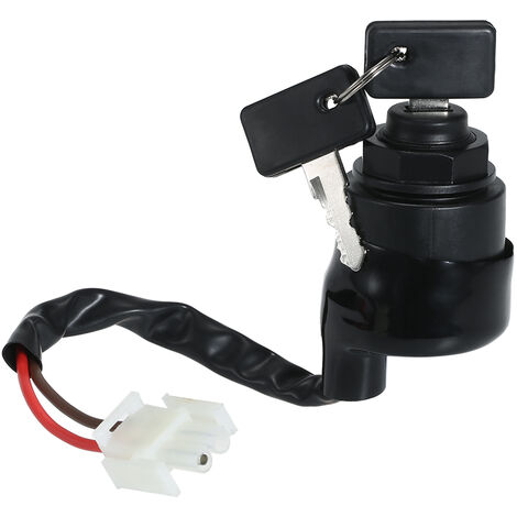 """main image of """"Replacement for Yamaha Golf Cart Ignition Key Switch & Keys Gas Or Electric G11 G16 G21 96-04 JN8-82510-09,model:Black"""""""