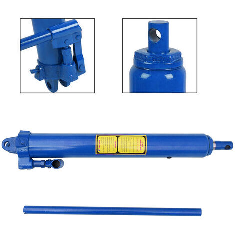 Replacement Hydraulic 8 Ton Manual Engine Lift Hoist Jack Long Ram With Handle