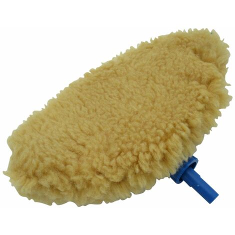 """main image of """"Replacement Mitt And Head for Easy Wash Hand Pump - Spare Lambs Wool Mop Clean"""""""
