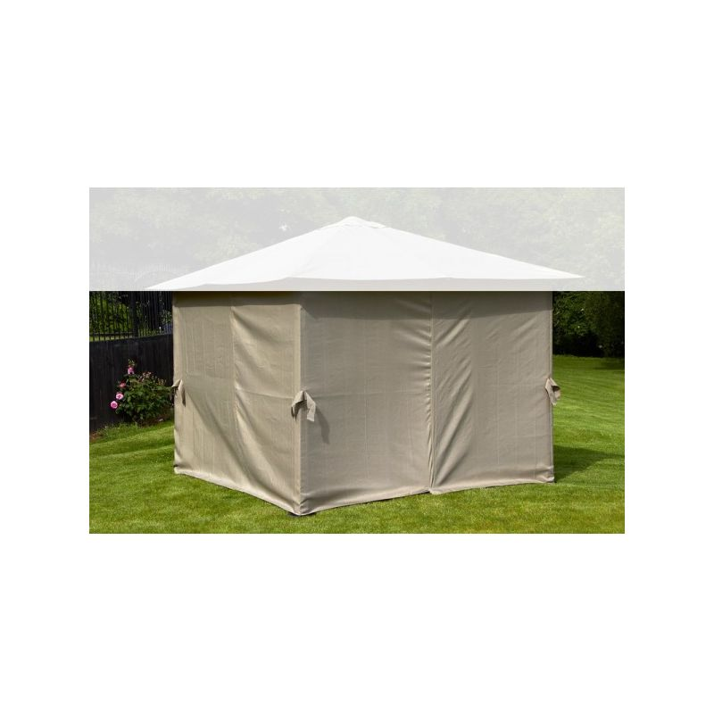 Image of Replacement Mocha Curtains Set For Polycarbonate Gazebo 3 x 3m