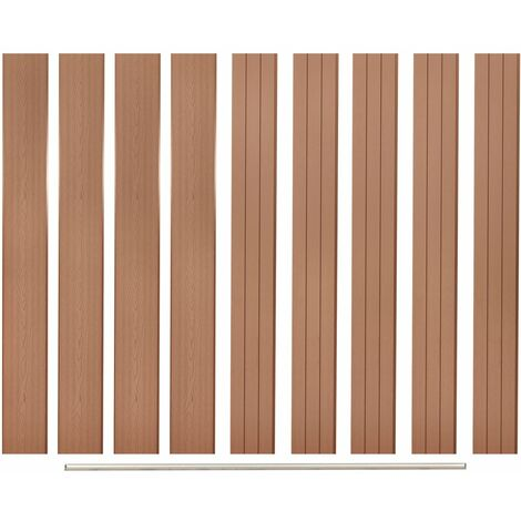 Replacement Fence Boards 9 pcs WPC 170 cm Brown