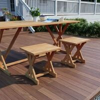 Tables De Jardin Et Terrasse Teck Table De Bistrot Riva Table