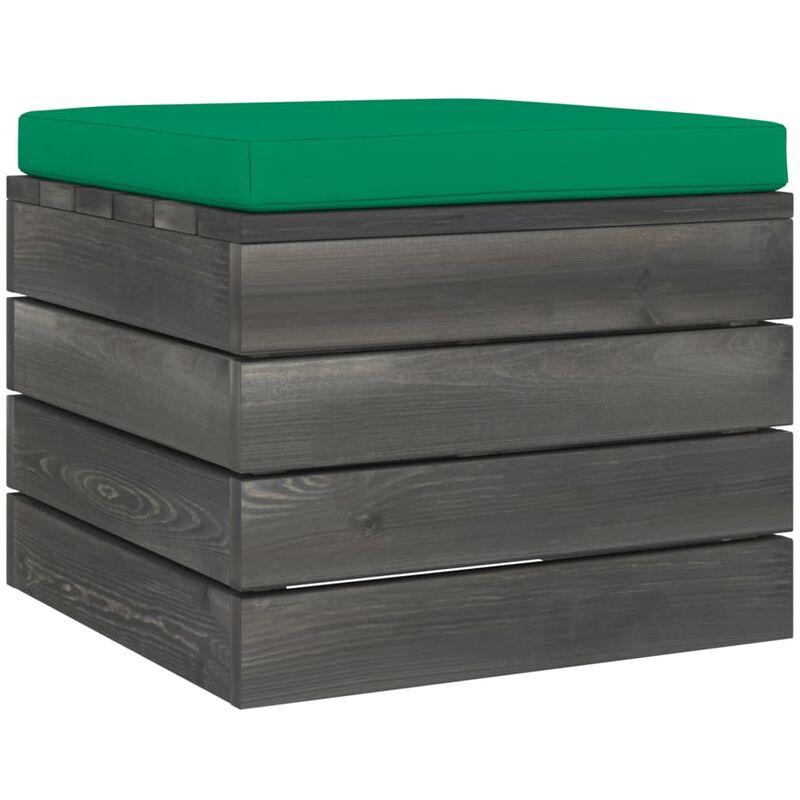 Repose-pied palette de jardin avec coussin Bois de pin