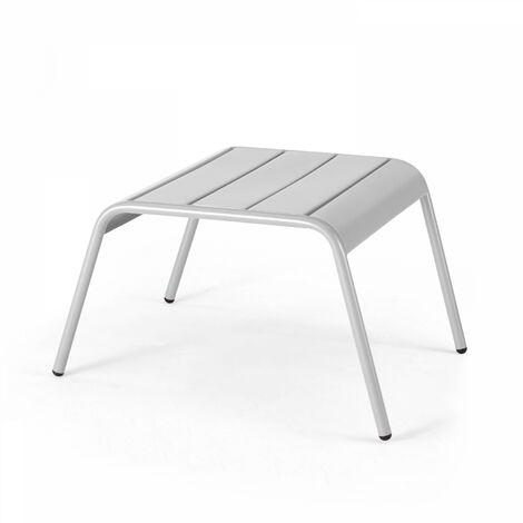 Repose pieds pour fauteuil de jardin, Palavas - Blanc - 104043