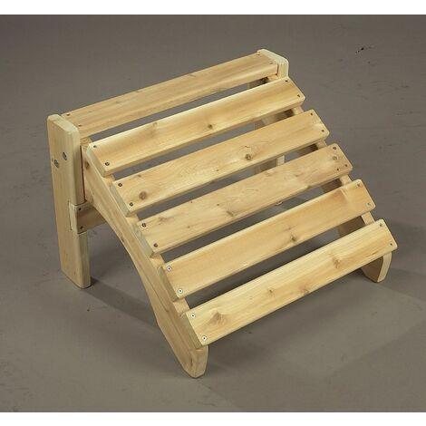 Repose pieds pour fauteuil en cèdre