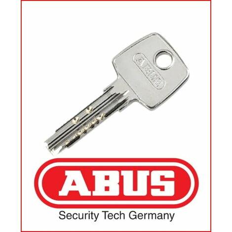 Reproduction clé cylindre serrure Abus XP2 - Alu