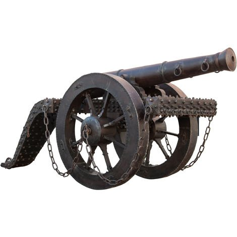 REPRODUCTION OF ANTIQUE METAL CANNON