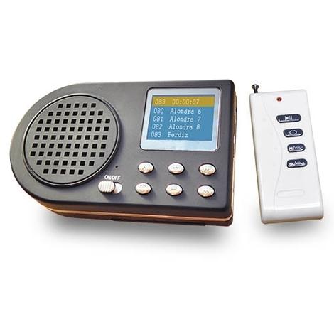 Reproductor de cantos MP3 con mando Ideal para la enseñanza de pájaros y adiestramiento de perros