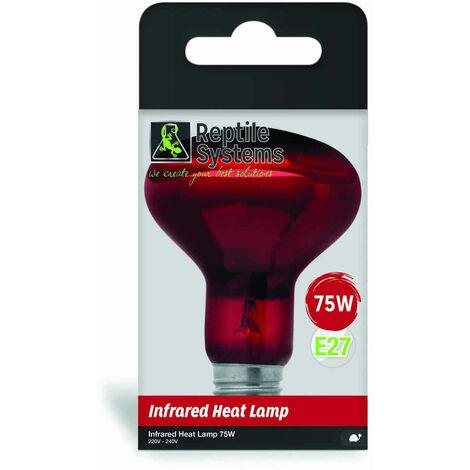 Reptile Systems - Lampe Infrared Heat Lamp E27 pour Reptiles - 50W