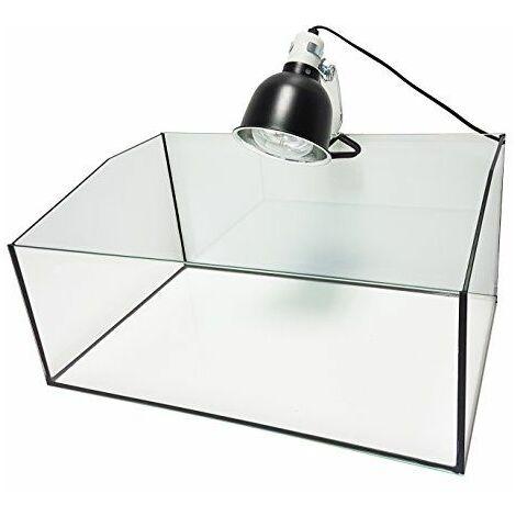 REPTILES PLANET Kit Terrarium Complet avec Bac Ouvert pour Tortue Terrestre 60 x 40 x 28 cm