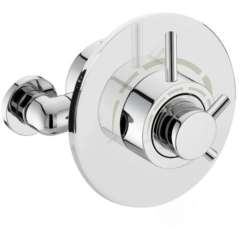 What Is A Thermostatic Shower Valve.Resel Round Concealed Thermostatic Shower Valve With Bottom Outlet
