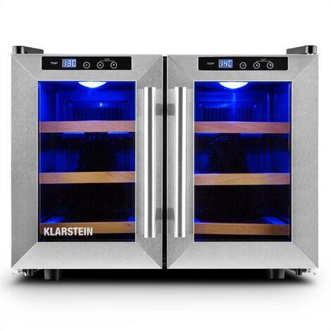 Reserva Saloon Beer Wine Refrigerator 12 Bottles 40 Litre Stainless Steel LED