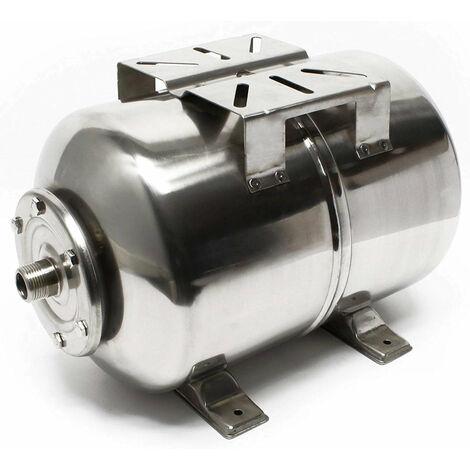 Réservoir à vessie pour la surpression domestique cuve ballon 24 litres inox