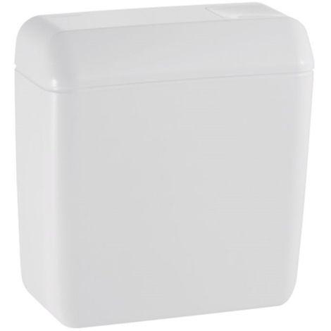 Réservoir chasse-d'eau de WC 6/9L attenant simple touche interrompable alimentation basse gauche AP128 GEBERIT 128.013.11.1