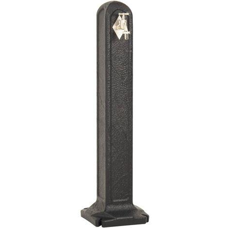 Réservoir de jardin avec robinet Anthracite Aspect de pierre