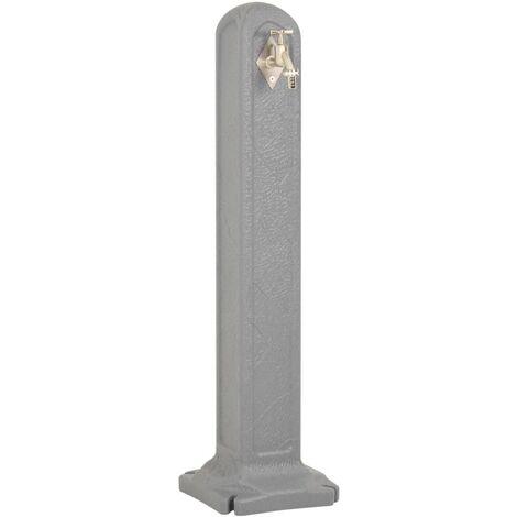 Réservoir de jardin avec robinet Gris clair Aspect de pierre