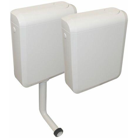 Réservoir DUETTO attenant ou semis bas à commande double débit 4150 - Couleur : Blanc