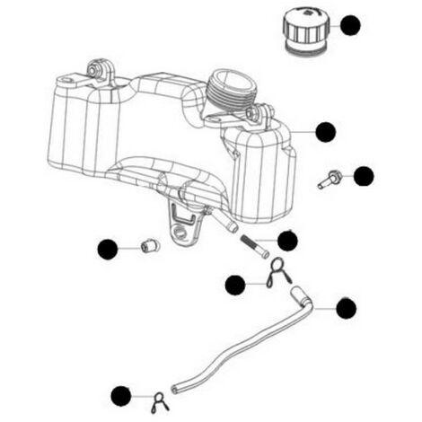 Réservoir essence tondeuse Mc Culloch RV150