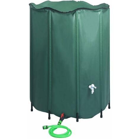 Reservoir pliable d'eau de pluie avec robinet 1250 L