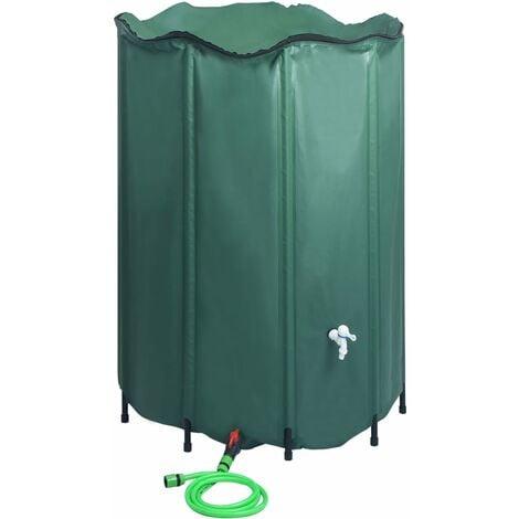 Réservoir pliable d'eau de pluie avec robinet 1500 L