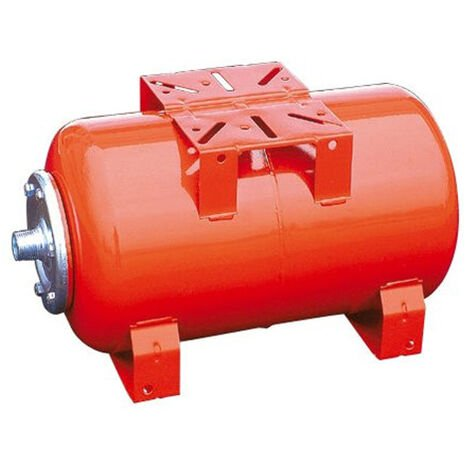 Réservoir pression à vessie interchangeable horizontal 8 bars - Capacité de 20 litres - Longueur: 500 mm - Hauteur: 275 mm
