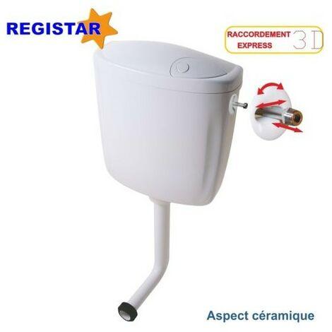 Réservoir semi-bas à commande simple débit interrompable