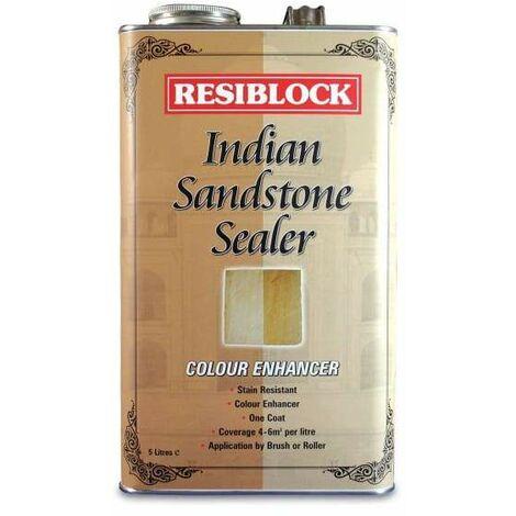 RESIBLOCK INDIAN SANDSTONE SEALER COLOUR ENHANCER 5 LITRE
