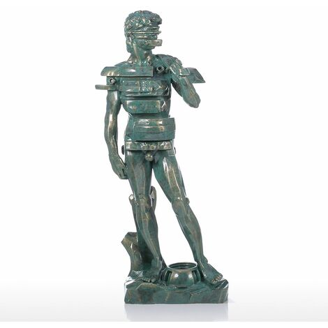 Resin Sculpture David with Drawer Sculpture Modern Art Figurine