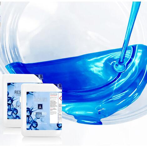 Resina Epossidica 8 Kg Trasparente Bicomponente A + B Effetto Acqua