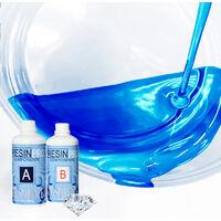 Resina Epossidica 800 Grammi Trasparente Bicomponente A + B Effetto Acqua