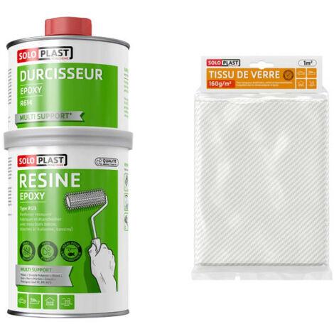 resina epossidica Confezione R123 Soloplast 1 Kg - Vetro tessuto Roving 160g m2 Soloplast