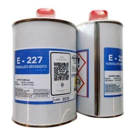 Resina Epossidica E 227 A+B KG1 PROCHIMA per fibra di vetro, di carbonio, tessuti ibridi