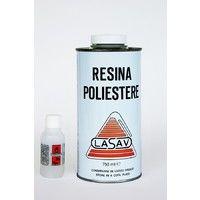 Resina Poliestere Liquida 750 Ml + Catalizzatore