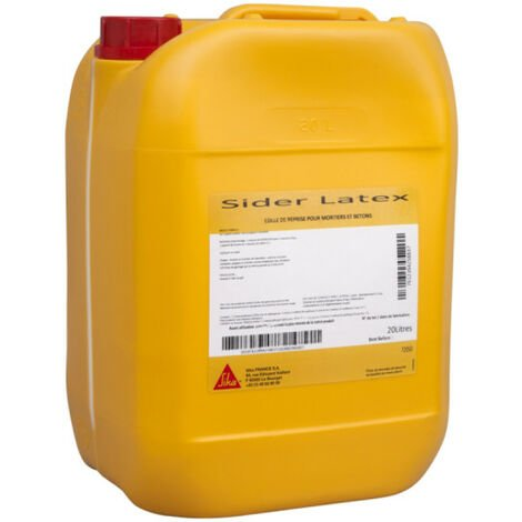 Résine d'accrochage pour mortier et béton SIKA Sider Latex - Blanc - 20L - Blanc