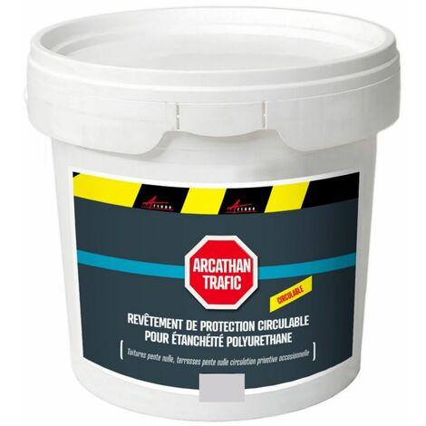 Résine de finition circulable polyurethane pour etancheite toiture plate - ARCATHAN TRAFIC