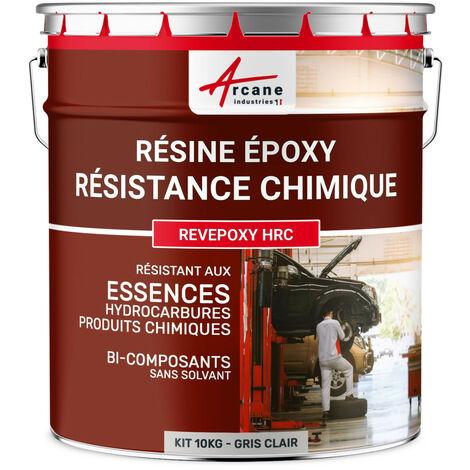 Resine Epoxy Haute Resistance Chimique - REVEPOXY HRC - ARCANE INDUSTRIES - Gris clair - Kit de 10 kg