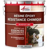 Resine Epoxy Haute Resistance Chimique - REVEPOXY HRC | gris clair - Kit de 10 kg