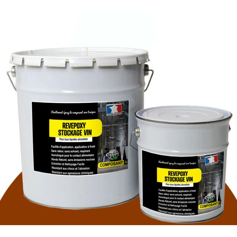 Arcane Industries - peinture cuve vin béton ou acier contenant vin ou liquides alcoolisés REVEPOXY STOCKAGE VIN Rouge brun - Kit de 15 Kg