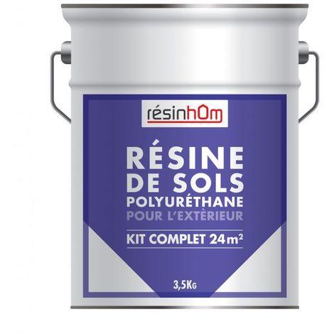 RESINE polyuréthane pour extérieur 5 Litres / 50M2 pour une couche - Plusieurs couleurs disponibles