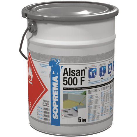 Résine polyuréthane pour finition - ALSAN® 500 F - RAL7032 - Seau de 5 kg