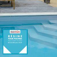 Résine polyuréthane spécial piscine 4,75kg /45m2 incolore