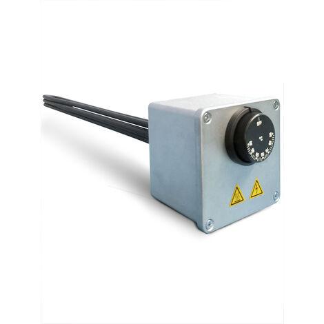 Résistance électrique monophasée blindée avec thermostat jusqu'à 90 ° C