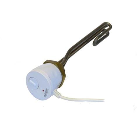 Résistance électrique pour ballon 2.0KW 230V avec thermostat 1 1/4'', inox 50.206.413