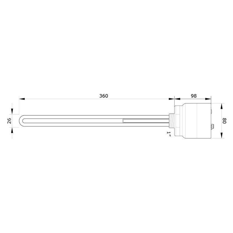 Résistance électrique thermostat pour ballon d'eau 3000W 6//4/'/' 230V