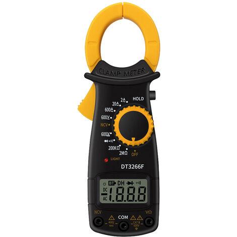 Resistance Pince Multimetre Numerique Portable Ac Dc Tension Courant Voltmetre Diode Sans Contact Identification Fire Wire