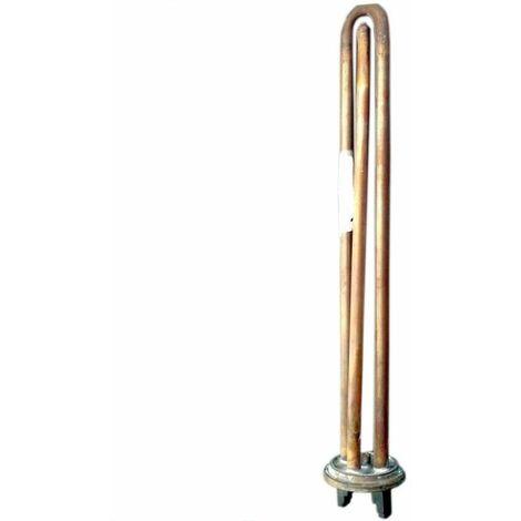 Résistance thermoplongeuse à bride ronde 1000W - 30 cm