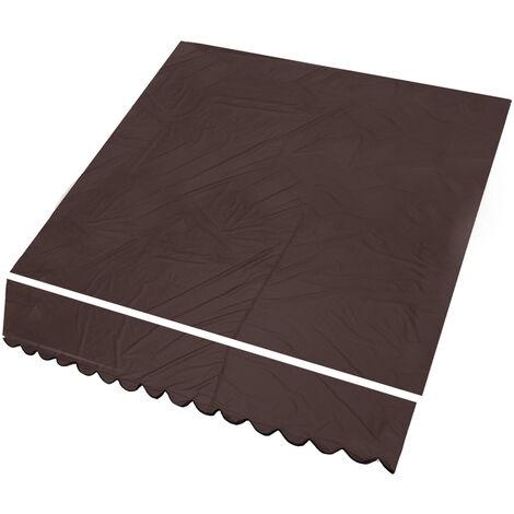 résistant à la pluie extérieur pare-soleil abri jardin patio auvent couverture auvent de remplacement tissu nouveau 6 couleurs marron café 3x2,5 m