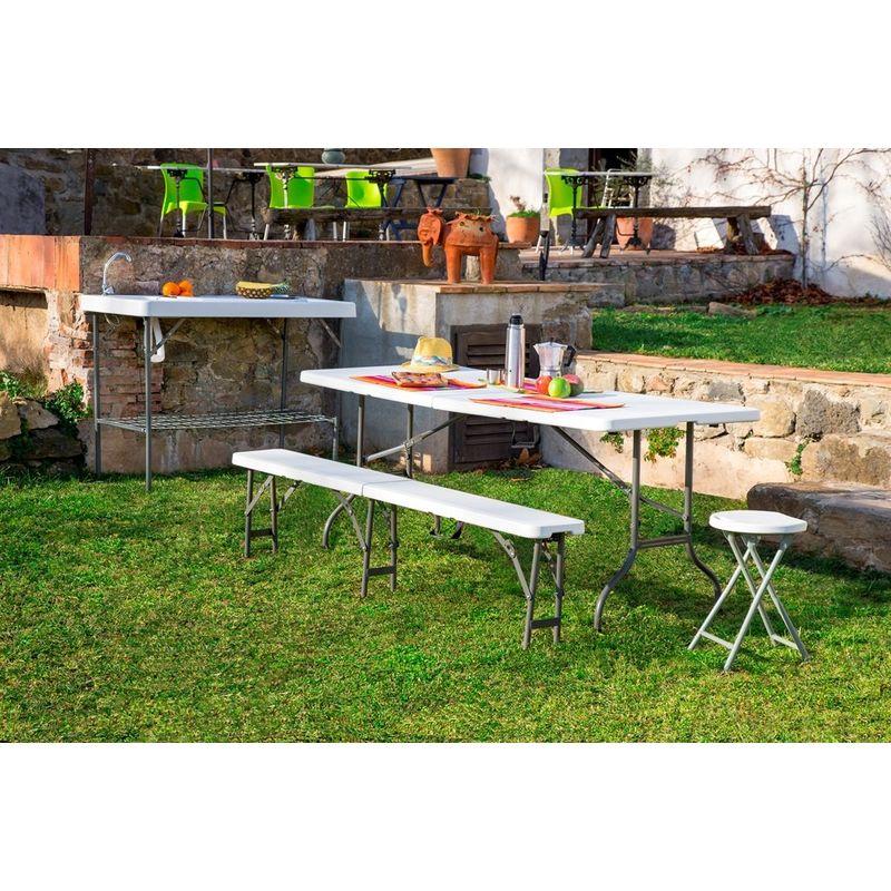 Tavoli Pieghevoli Da Pic Nic.Tavolo Pieghevole Tavoli Da Picnic Arredamento Resol 66468 Easy