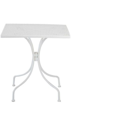 resol mesa de jardín exterior cuadrada Egeo 70x70 - color blanco