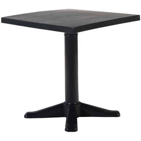 resol mesa de jardín exterior cuadrada Esculapi 70x70 - color antracita
